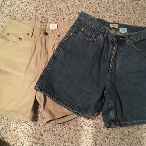 LL Bean bundle of 2 jean shorts new without tags